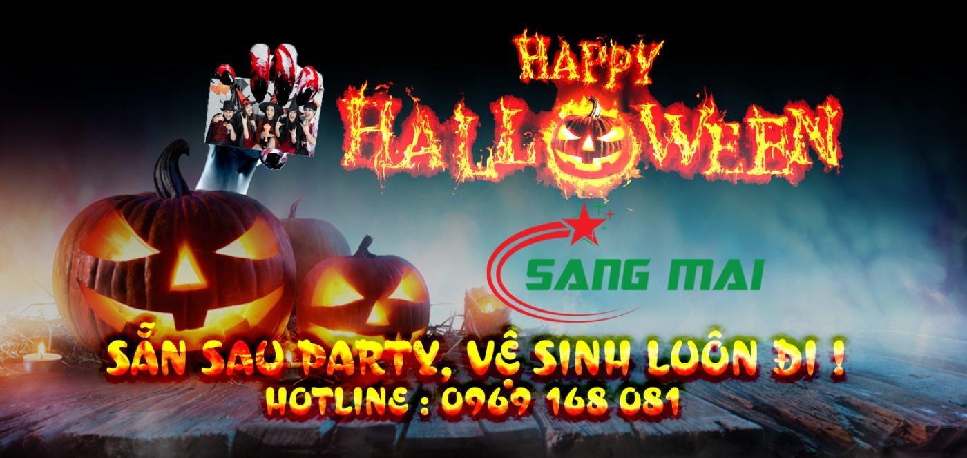 vệ sinh công nghiệp Sáng Mãi-Halloween sau party vệ sinh luôn đi 3